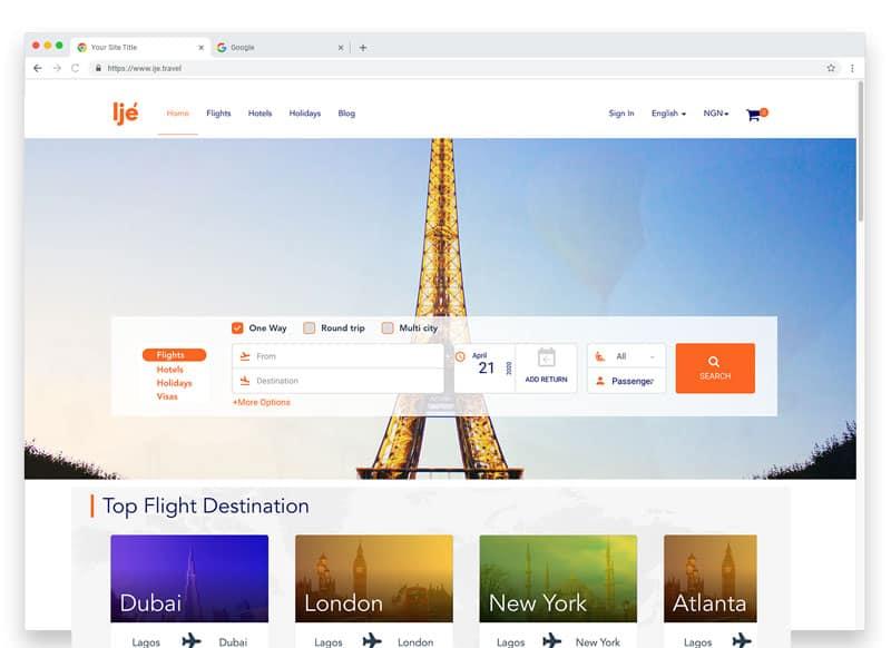 touchcore-travel-website-development